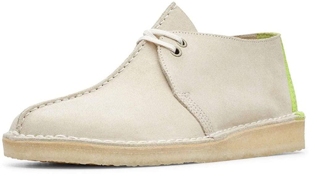 Clarks Originals Desert Trek Dress Shoes 7 D(M) US Off White Suede