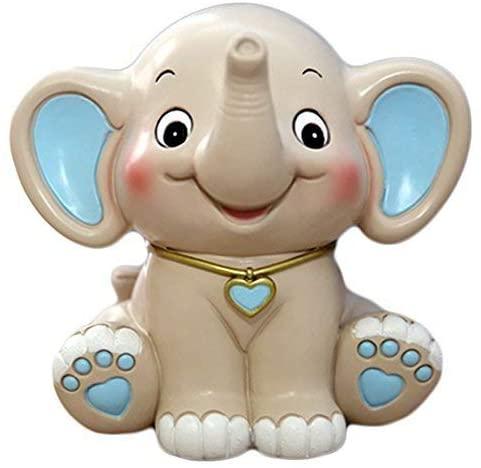 CHOOLD Cute Cartoon Elephant Piggy Bank Coin Bank Saving Pot Money Box for Kids Birthday Gift Nursery Decor (Blue)