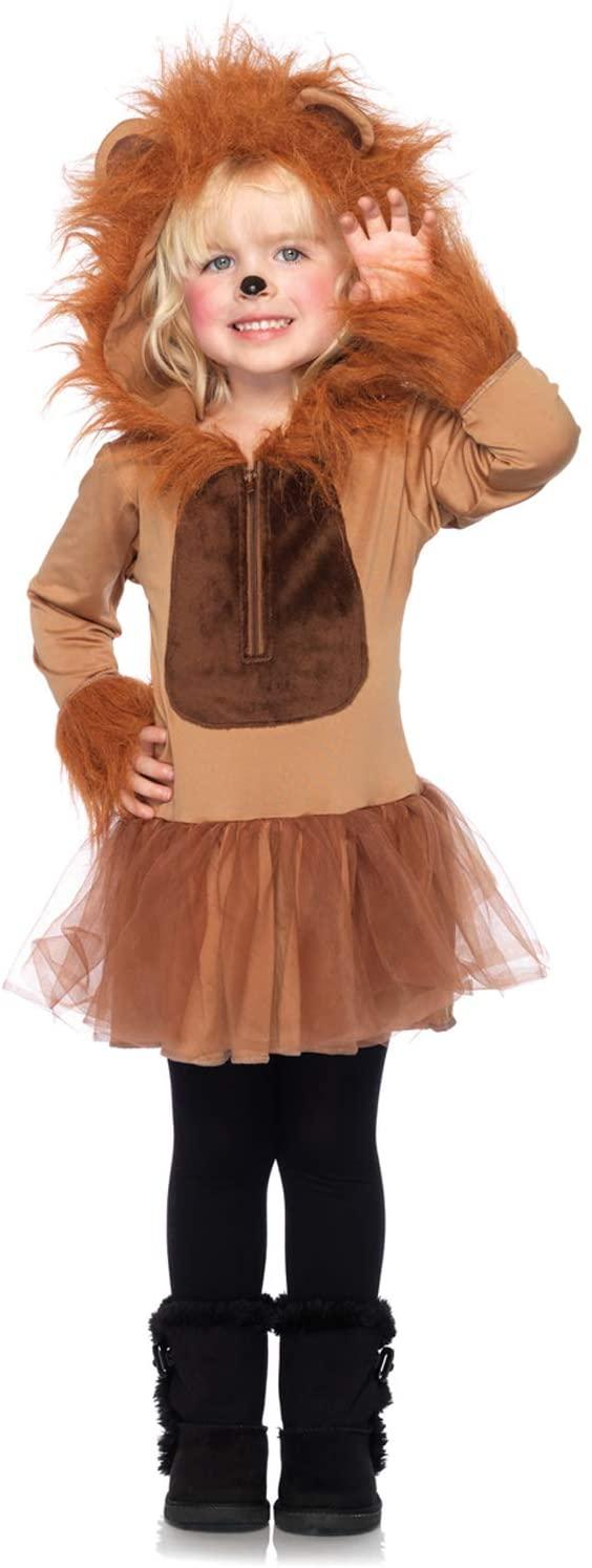 Leg Avenue Childrens Cuddly Lion Costume, Small/Petite, Brown