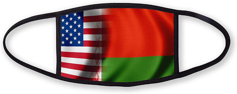 3-Layer reusable/washable Facemask - Flag of Belarus (Belarusian) - Bricks Design