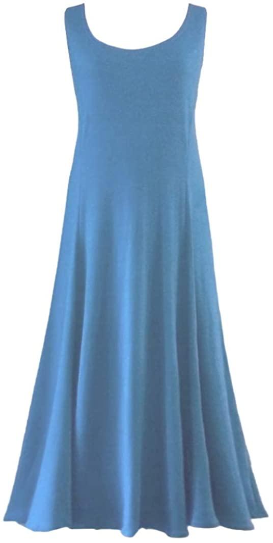 Sanctuarie Designs Royal Blue Plus Size Poly/Cotton Princess Cut Tank Dress