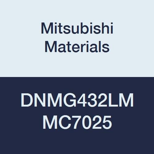 Mitsubishi Materials DNMG432LM MC7025 Coated Carbide DN Type Negative Turning Insert with Hole, Rhombic 55°, 0.5 IC, 0.187 Thick, 0.031 Corner Radius, LM Breaker (Pack of 10)