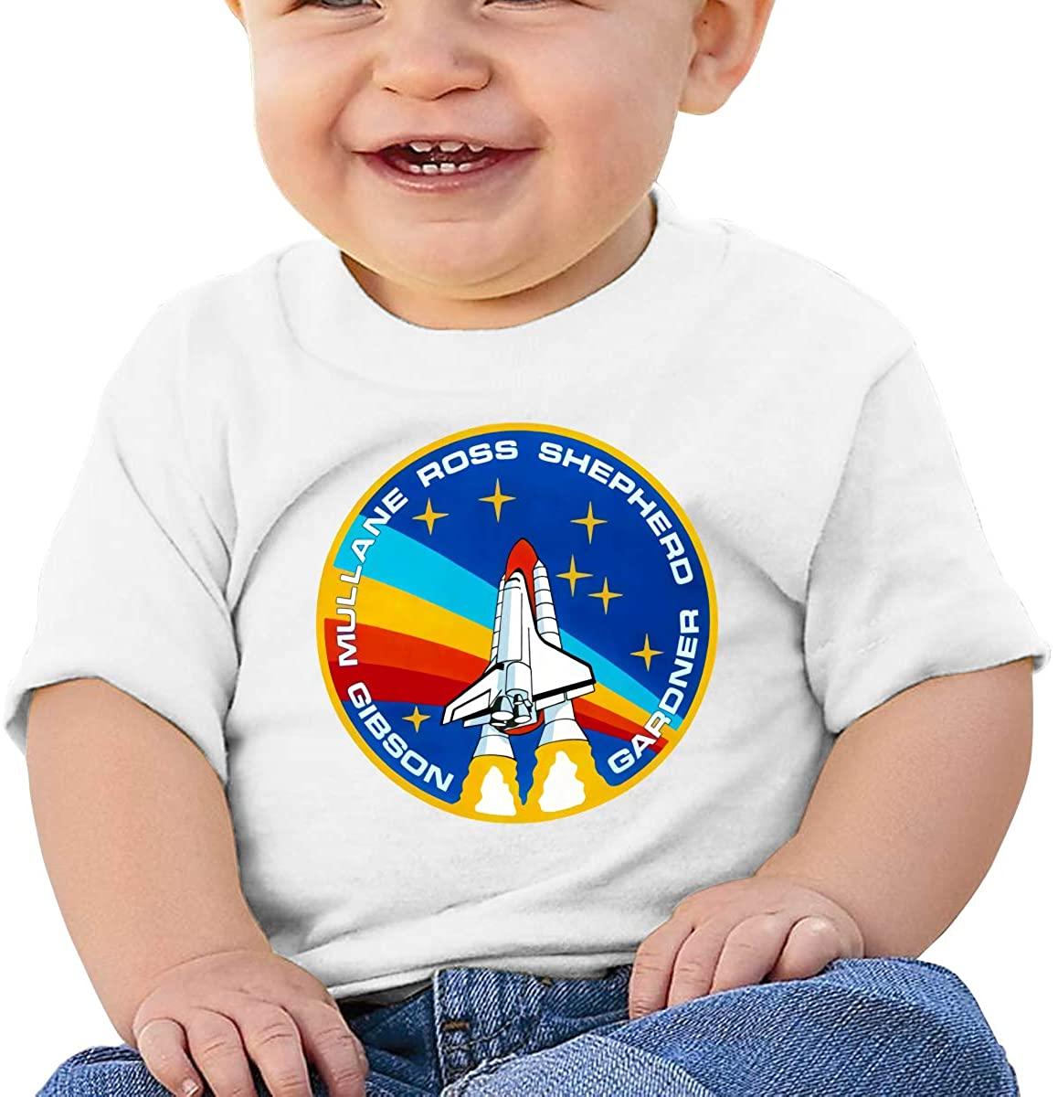 Gbyuhjbujhhjnuj Baby T-Shirt Cute Infant Home NASA Graphic Toddler T Boys and Girls Soft Short Sleeve Cotton Kids Shirt