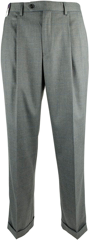 Ralph Lauren Men's Comfort Flex Pleated Cuffed Hem Dress Pants
