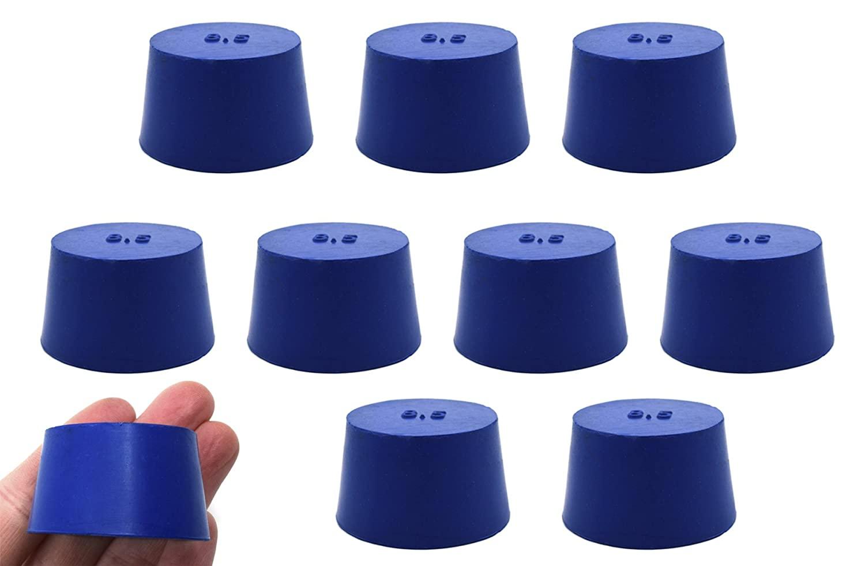 Neoprene Stopper ASTM Solid - Blue ASTM Size: #8.5-36mm Bottom, 43mm Top, 25mm Length - Pack of 10