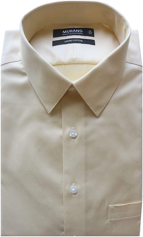 Murano Liquid Cotton Slim Fit Point Collar Solid Dress Shirt S85DM031 Blush