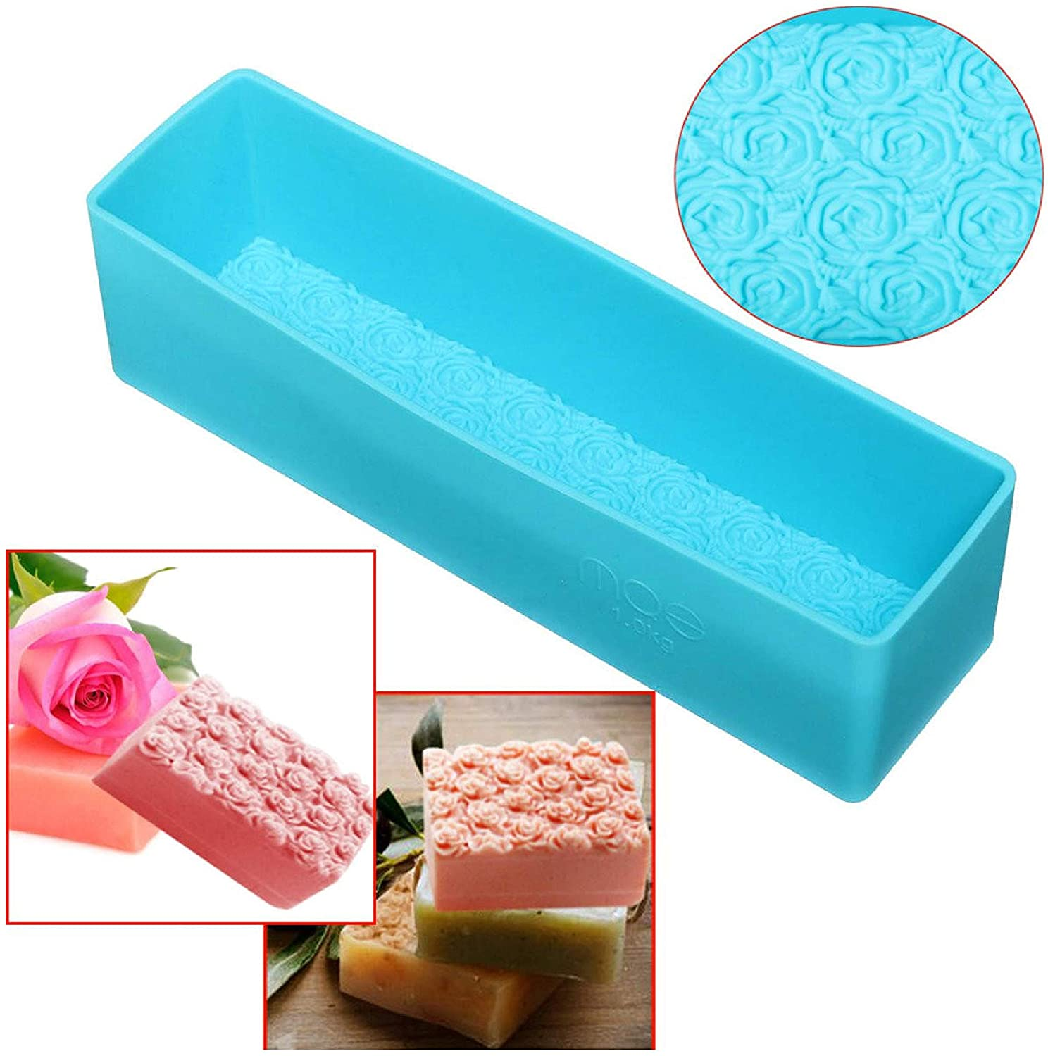 EDC, Rose Toast Silicone Soap Loaf Cake Baking Bread Tools DIY Chocolate Mould COD