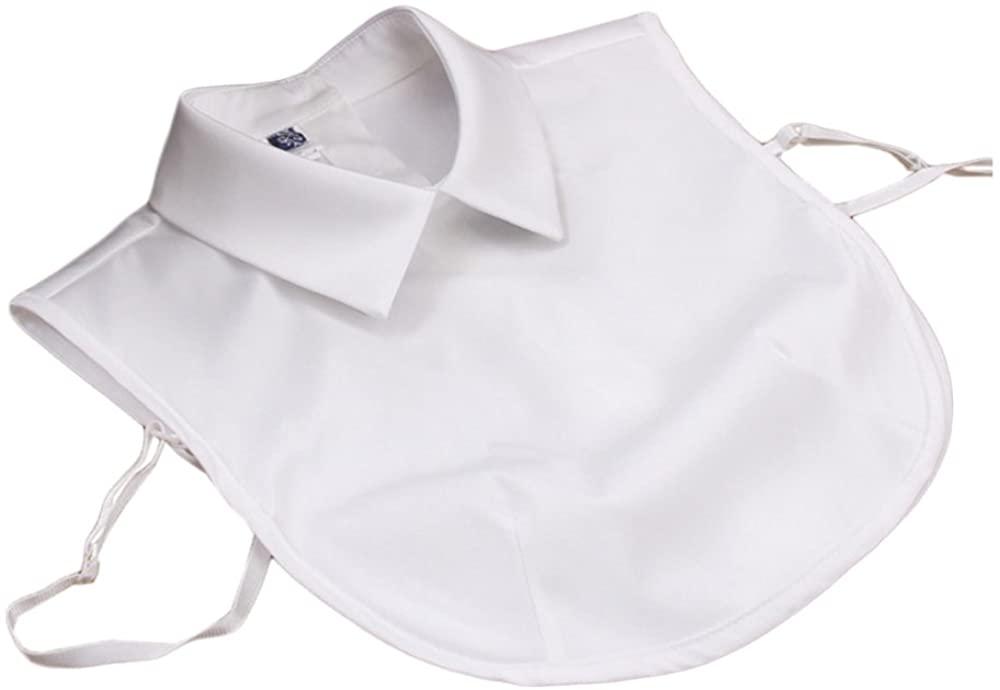 Vpang Stylish Detachable Half Shirt Blouse False Collar Solid Color Imitate Satin Fake Collar Dickey Collar
