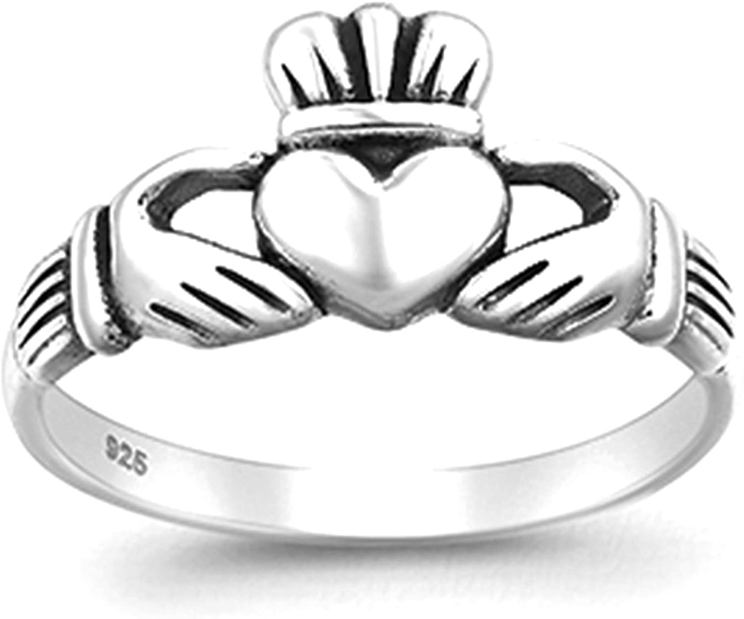 Best Wing Jewelry .925 Sterling Silver Love Loyalty Friendship Claddagh Ring
