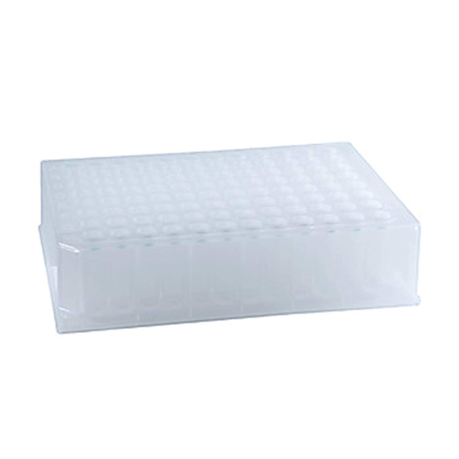 Microliter 07-2100-B µL-Plates Medium Plate Kit, Round Well with Round Bottom with Lid, Polypropylene, BµLk, 500µL (Pack of 10)