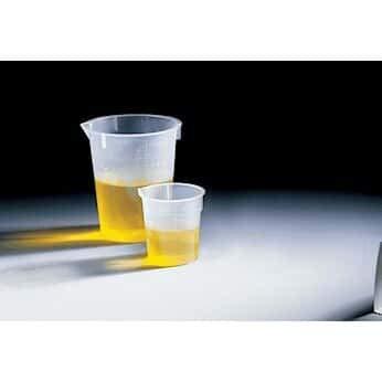 Disposable Polypropylene riffin Low-Form beakers, 600 mL 500/pk