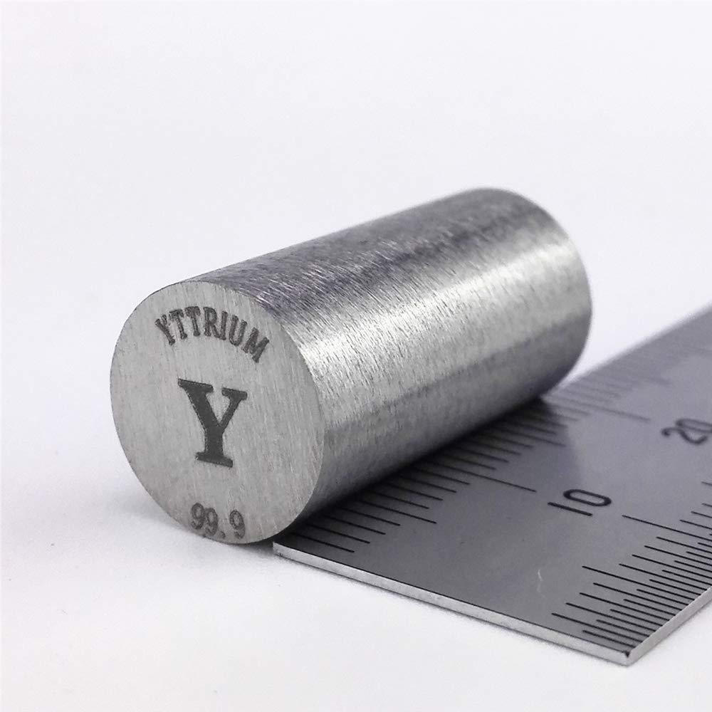 Yttrium Metal Rod 99.9% 10diameter x20mm Length 7.1grams Element Y Specimen