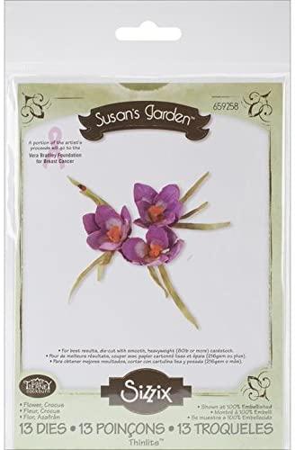 Sizzix Thinlits Dies 13/Pkg-Crocus Flower