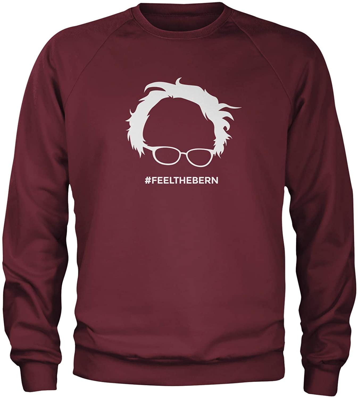 Expression Tees Feel The Bern - Bernie Sanders for President 2020 Crewneck Sweatshirt