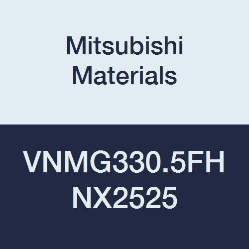 Mitsubishi Materials VNMG330.5FH NX2525 Uncoated Cermet VN Type Negative Turning Insert with Hole, Rhombic 35°, 0.375