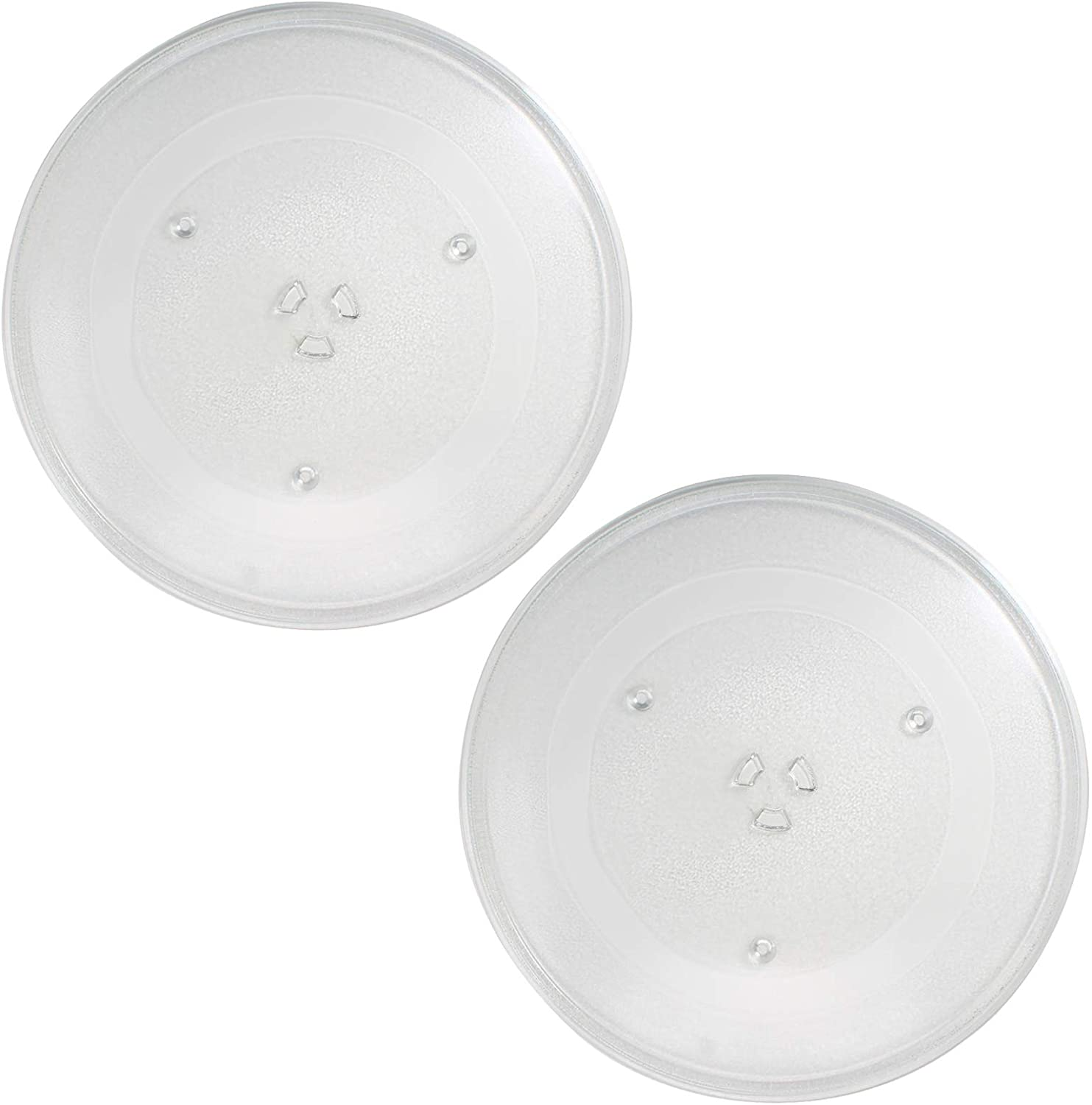 2-Pack WB49X10063 Microwave Glass Turntable Plate Replacement for General Electric PVM2070DM3CC - Compatible with WB49X10063 14 1/8 Inch Glass Tray