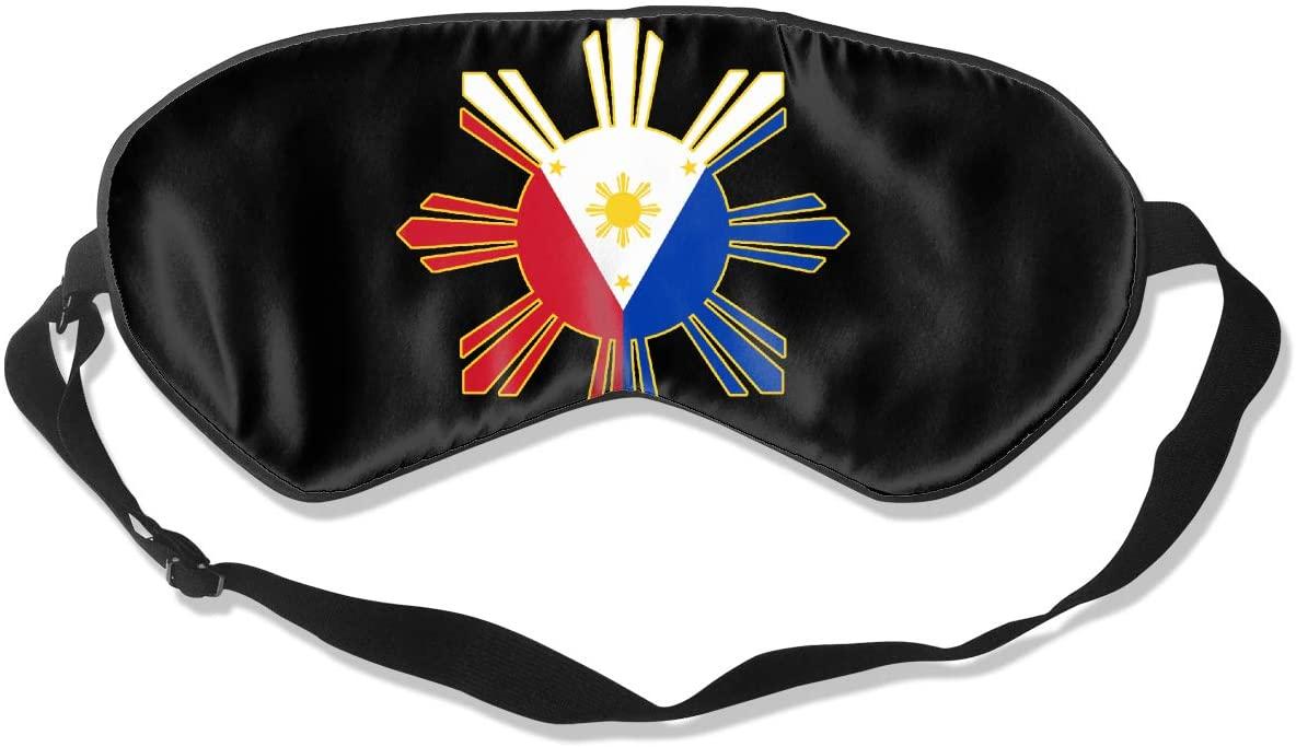 Filipino Flag Eye Mask Sleeping Mask 100% Double-Sided Silk Eyeshade Eye Cover