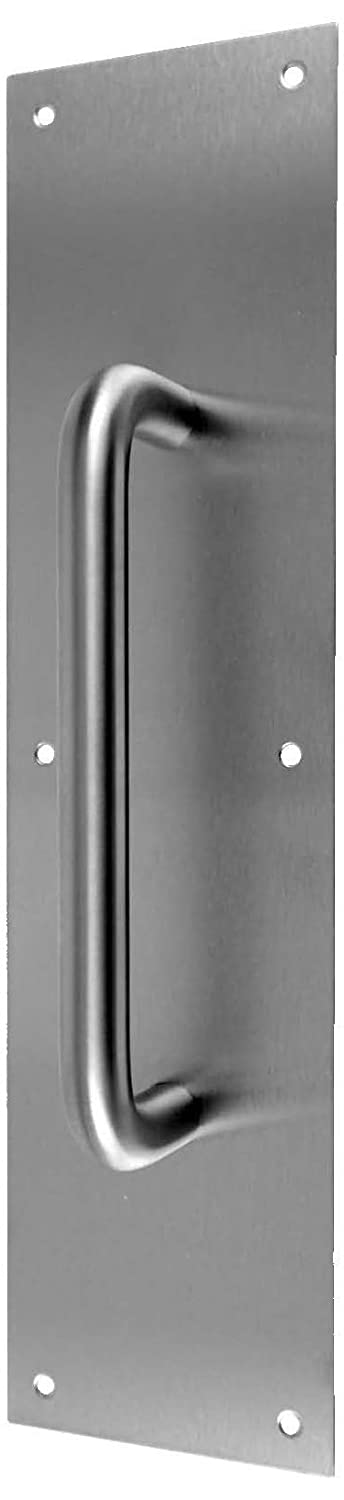 Don-Jo 7816 Round Pull Plate, Satin Stainless Steel Finish, 4