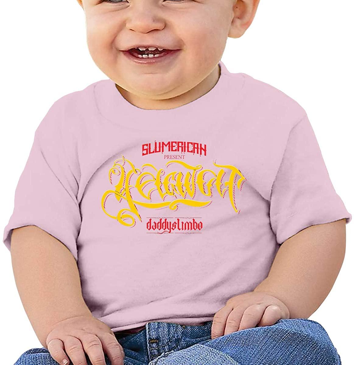 6-24 Months Boy and Girl Baby Short Sleeve T-Shirt Yelawolf Original Minimalist Style Pink