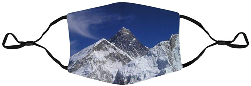 Face Protection Mount Everest Himalayas Nepal Gerbirge Everest Face Protection Unisex Adjustable Breathable Dustproof Mouth Cover