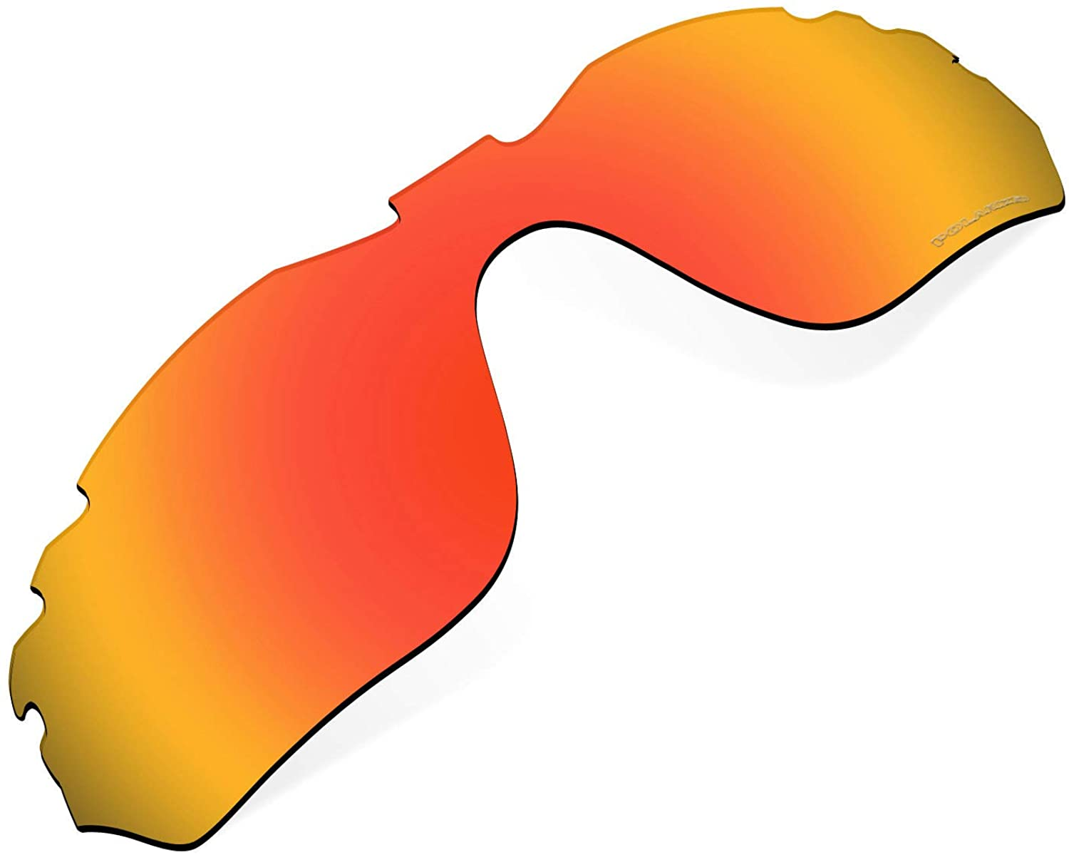 Polarized Replacement Lenses Compatible with Oakley Radar Edge Vented Sunglass - Blaze Red
