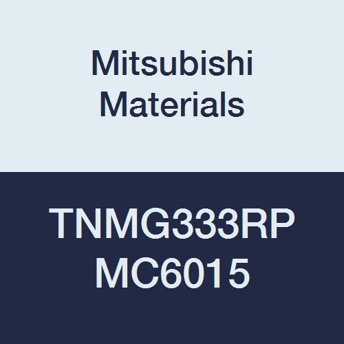 Mitsubishi Materials TNMG333RP MC6015 Carbide TN Type Negative Turning Insert with Hole, Coated, Triangular, Grade MC6015, 0.375