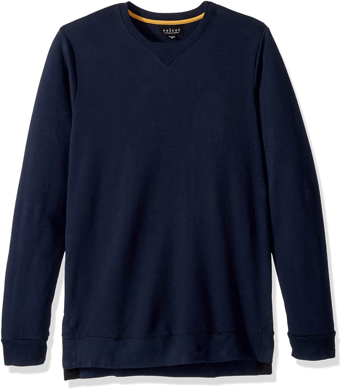 Velvet by Graham & Spencer Men's Velvet's Major French Terry Long Sleeve Sweatshirt