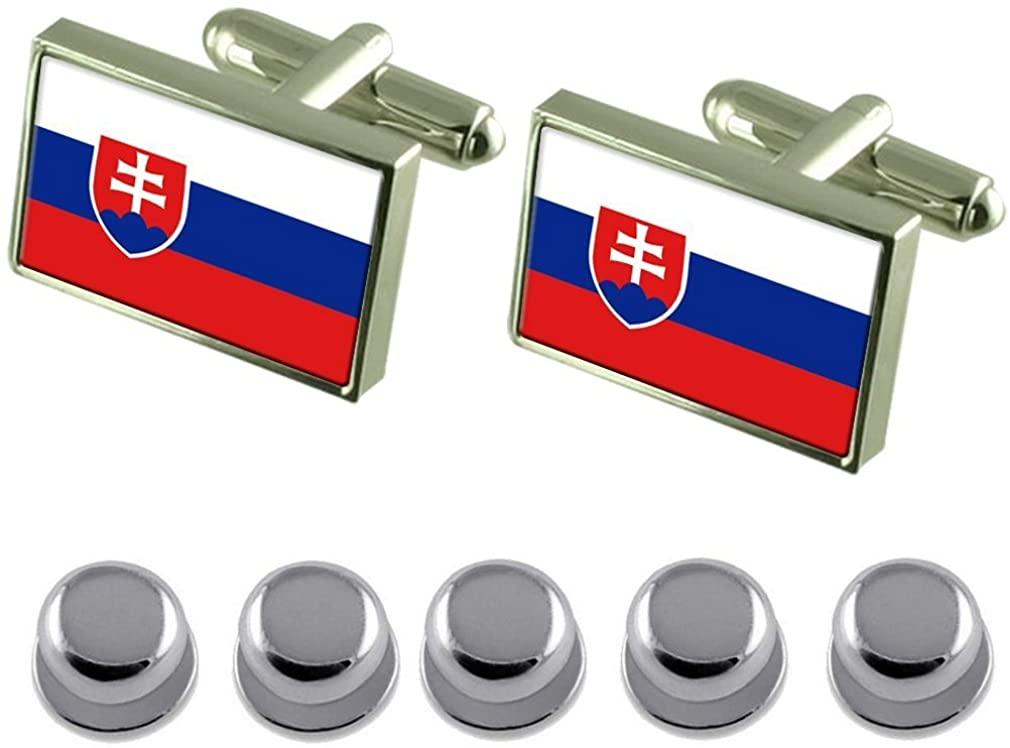 Select Gifts Shirt Dress Studs Slovakia Flag Cufflinks