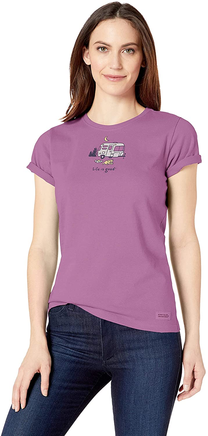 Life is Good Womens Womens Vintage Crusher T-Shirt
