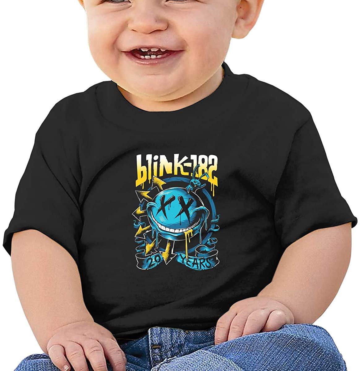 Hangquq Unisex Baby Blink 182 Round Neck Shirt Short Sleeve T-Shirt.