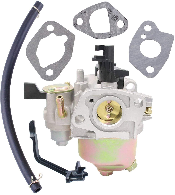 Poweka 196CC Carburetor for Baja Mini Bike(MB165/MB200) 5.5hp 6.5hp Warrior Heat with Fuel Line and Gaskets Replace 163CC Carb 66015 66571 69086 69738 98963