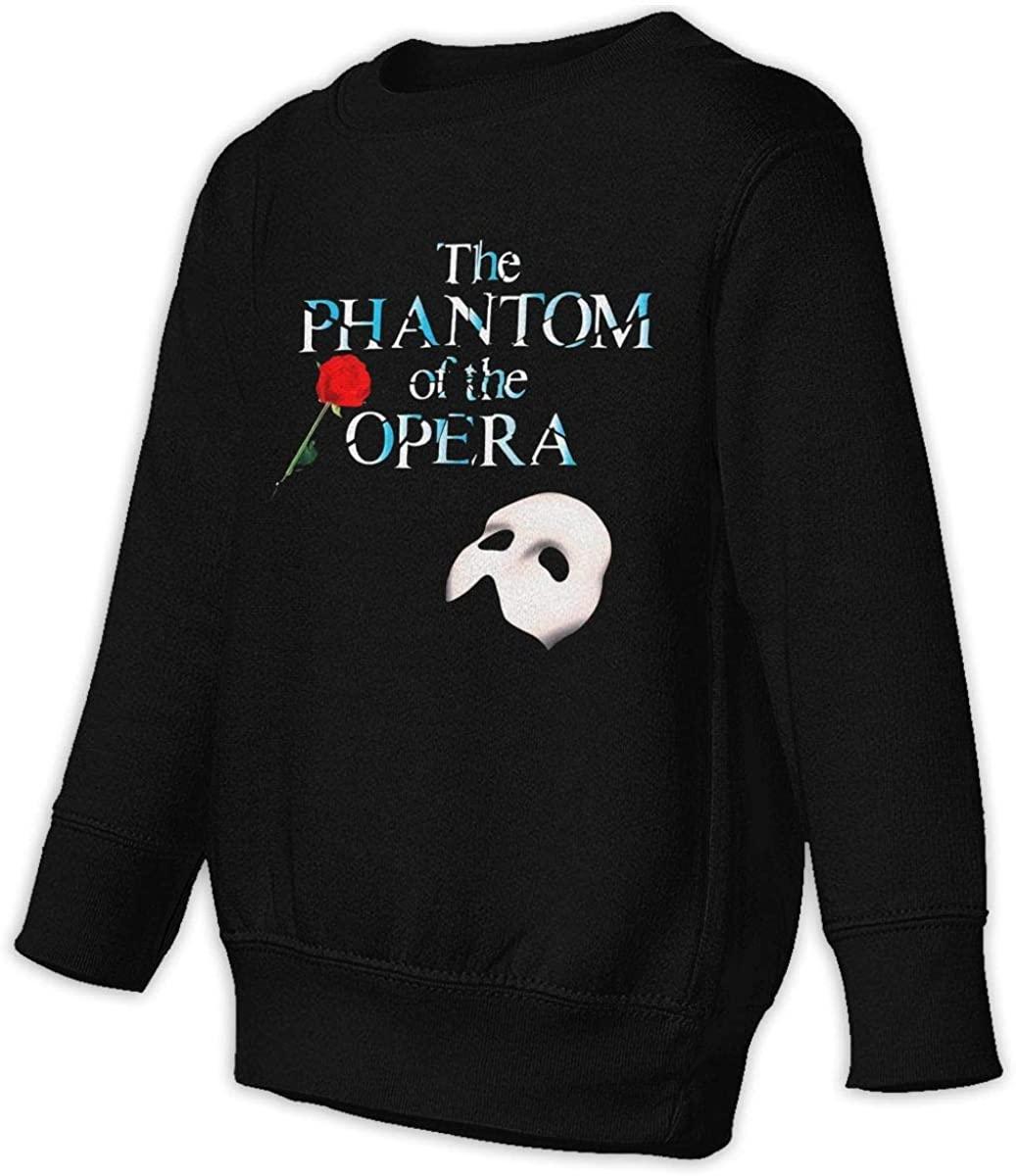 HUOOKFNH-losgusy Phantom of The Opera Rose Unisex Sweatshirt Youth Boy and Girls Pullover Sweatshirt Black
