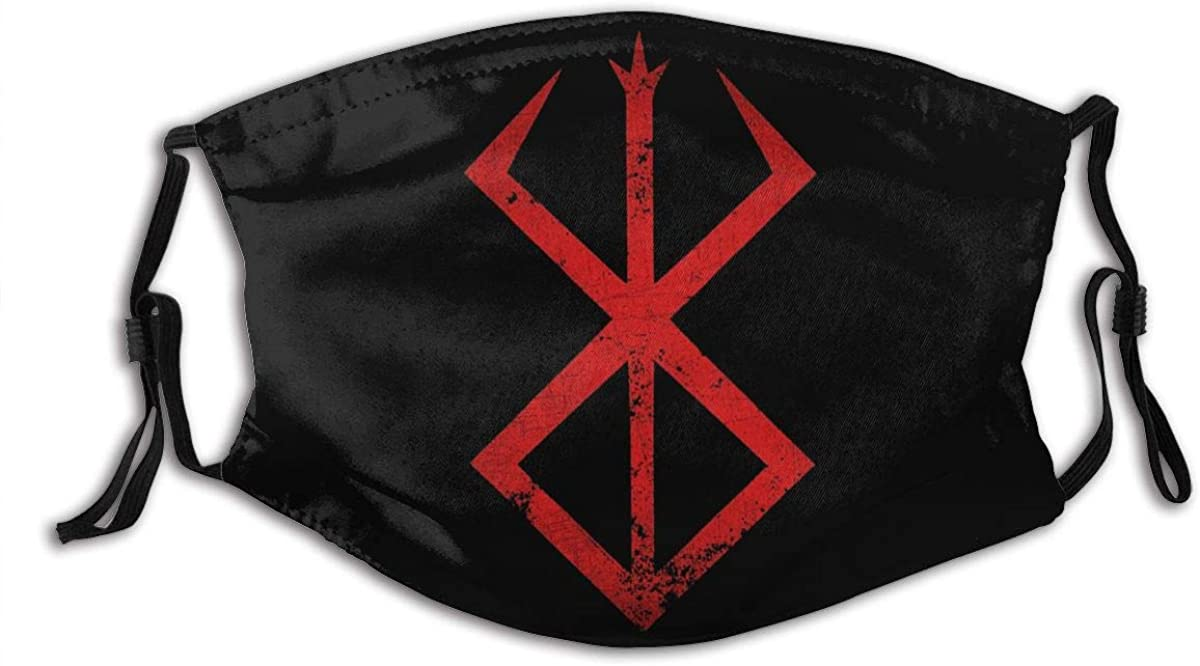 Gibeauwlu Berserk Anime Symbol Face Mouth Mask Windproof Dust Protection Cover Scarf Bandana Men Woman