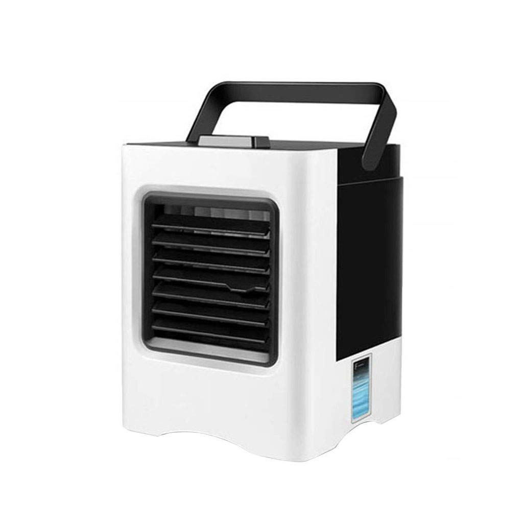 Zlolia Portable Air Conditioner Fan, Zlolia Personal Air Cooler Mini Air Conditioner Evaporative Air Cooler with 3 Speeds, 7 Color LED Light, Desktop Table Cooling Fan for Home Bedroom Office