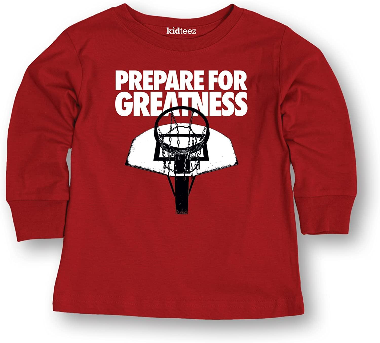 Air Waves Prepare Greatness -Toddler Long Sleeve TEE-5T Red
