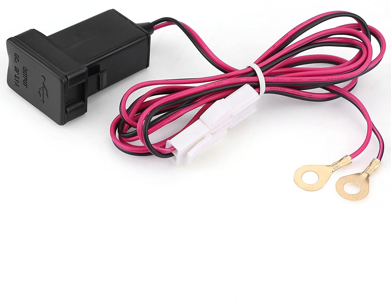 5V 3.1A Car Dual USB Port Power Charger Adapter Socket Dashboard Mount Fast Charging Black for Toyota 12-24V