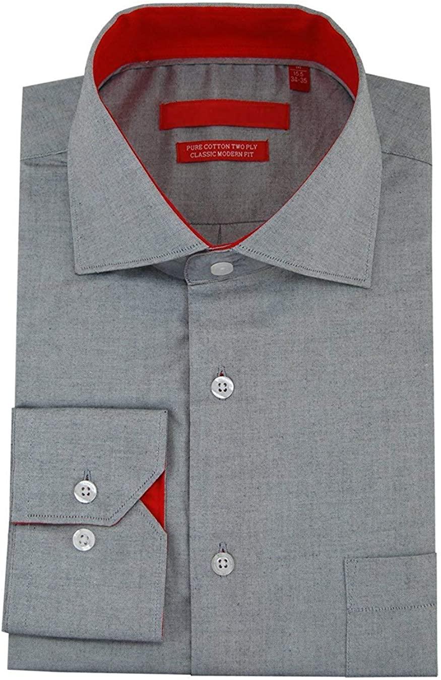 DTI GV Executive Men's 100% Cotton Barrel Cuff Dress Shirt