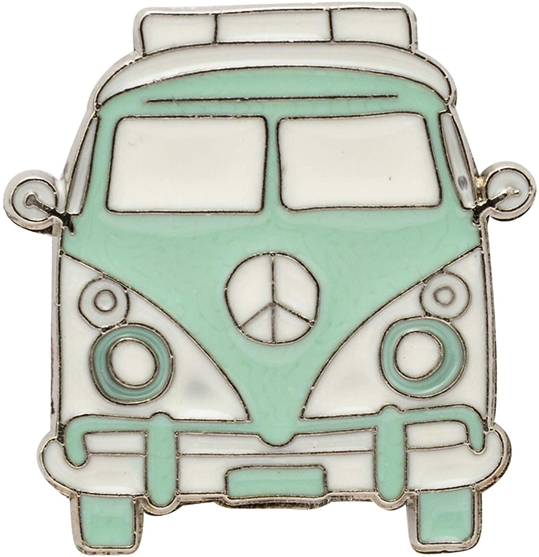 A N KINGPiiN Lapel Pin for Men Classic Camper Bus Van Lime Green Badge Brooch Suit Stud, Shirt Studs Men's Accessories