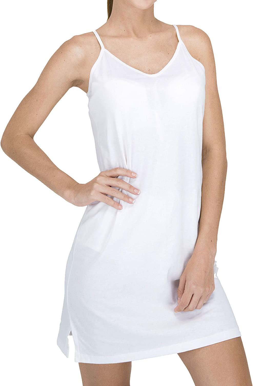 Cottonique Women's Hypoallergenic Full Slip Made from 100% Organic Cotton