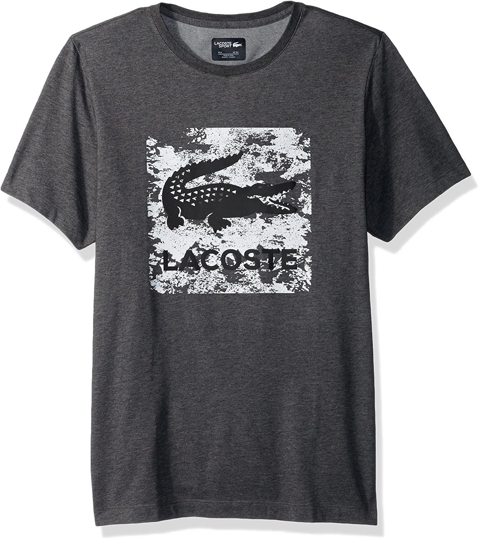 Lacoste Men's Tennis Short Sleeve Square Chest Croc Graphic T-Shirt