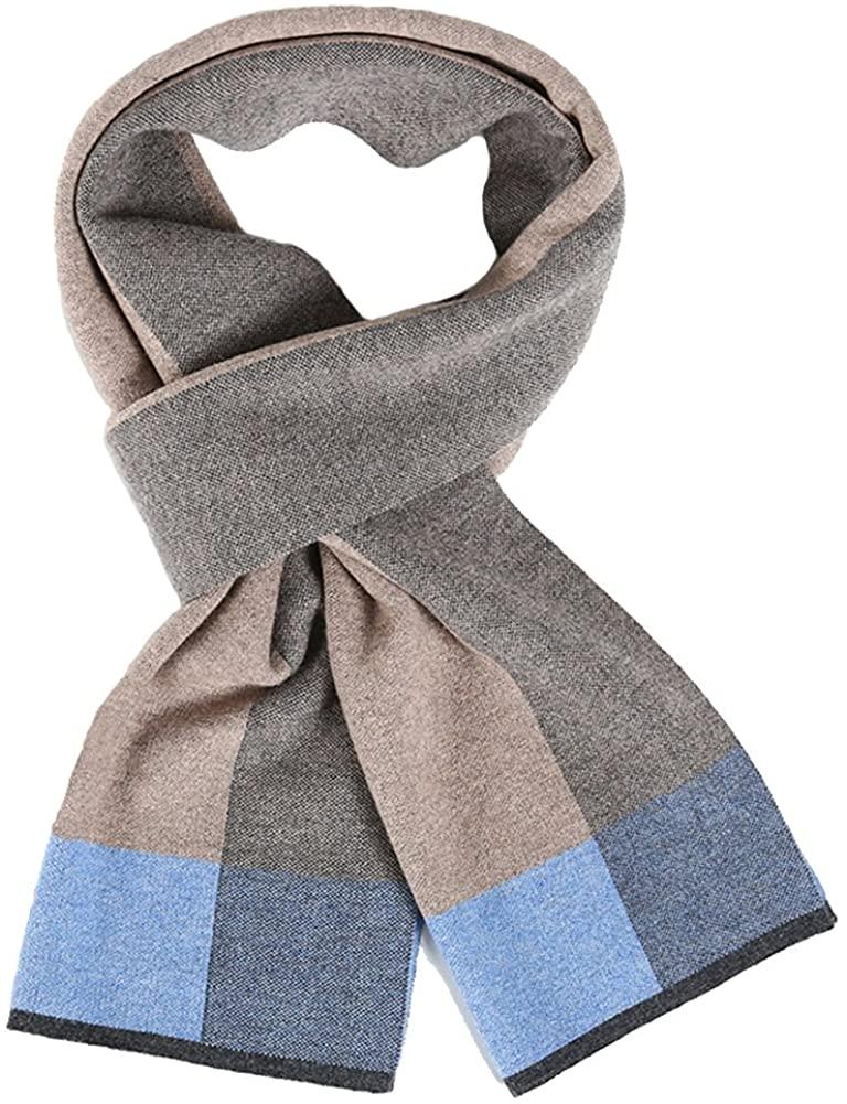 MUNI 100% Australia Wool Mens Cashmere Scarf Fashion Long Soft Designer Scarves