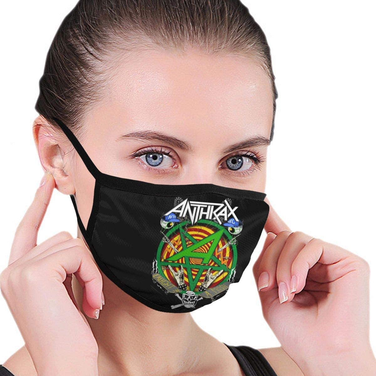 Anthrax Dredd Eagle Men Women Kids Face Cover Windproof Mouth Cover Breathable Cycling Dust Covers