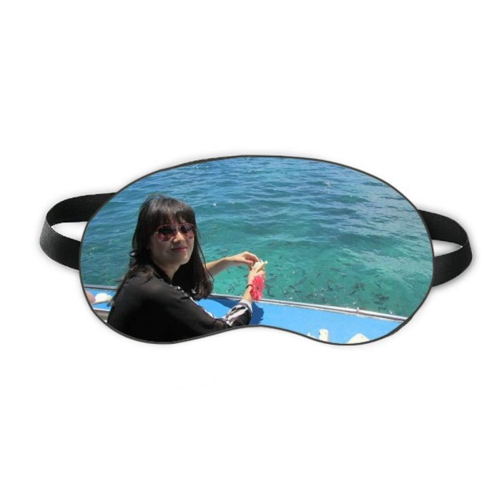 Boat Wave Sea Ellie Yao Beautiflu Girl Sleep Eye Shield Soft Night Blindfold Shade Cover