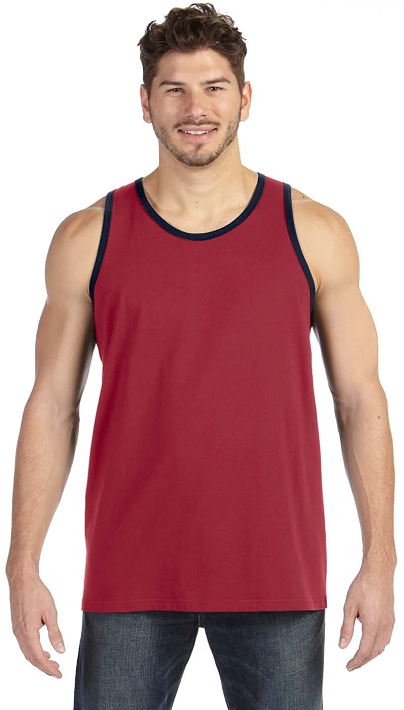 Anvil Lightweight Fashion Tank, Independence Red/Navy, Medium