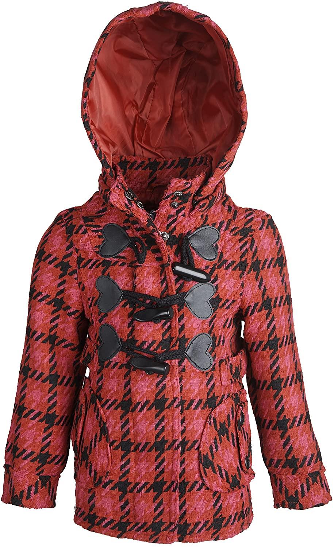 dollhouse Baby Girls Dressy Waisted Wool Hooded Winter Toggle Peacoat Jacket