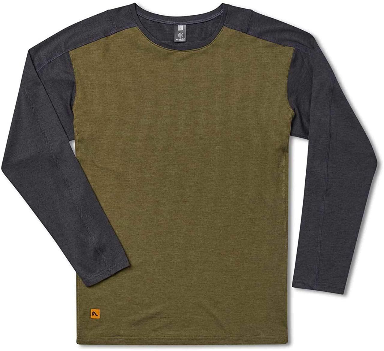 Flylow Shaw Shirt - Men's Long Sleeve Anti-Odor Treated Shirt for Hiking, Mountain Biking and Trail Running