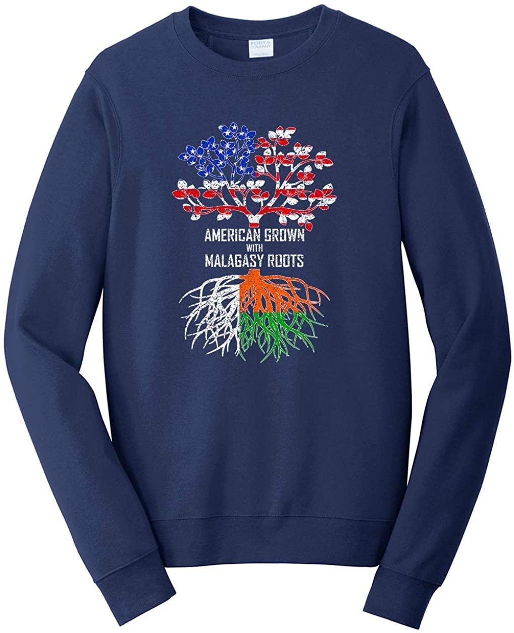 Tenacitee Unisex American Grown with Malagasy Roots Sweatshirt