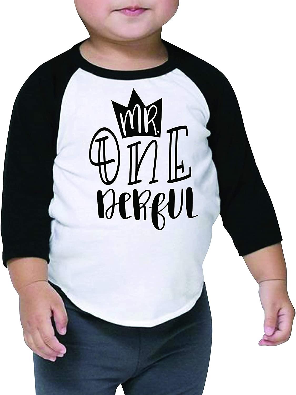 Boy First Birthday Shirt 1st Birthday Boy Outfit Mr. One-Derful