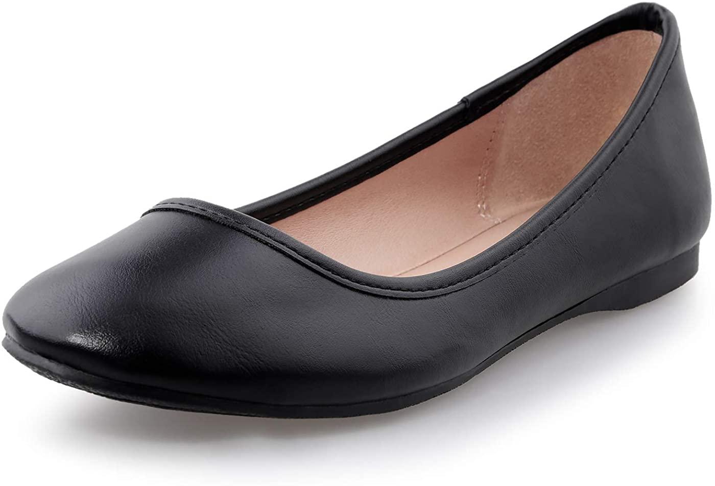 shoeslocker Womens Ballet Flat Shoes Ladies Flats Anti-Slip Flat Shoes