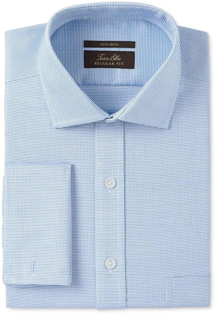 Tasso Elba Mens Non Iron Button Up Dress Shirt